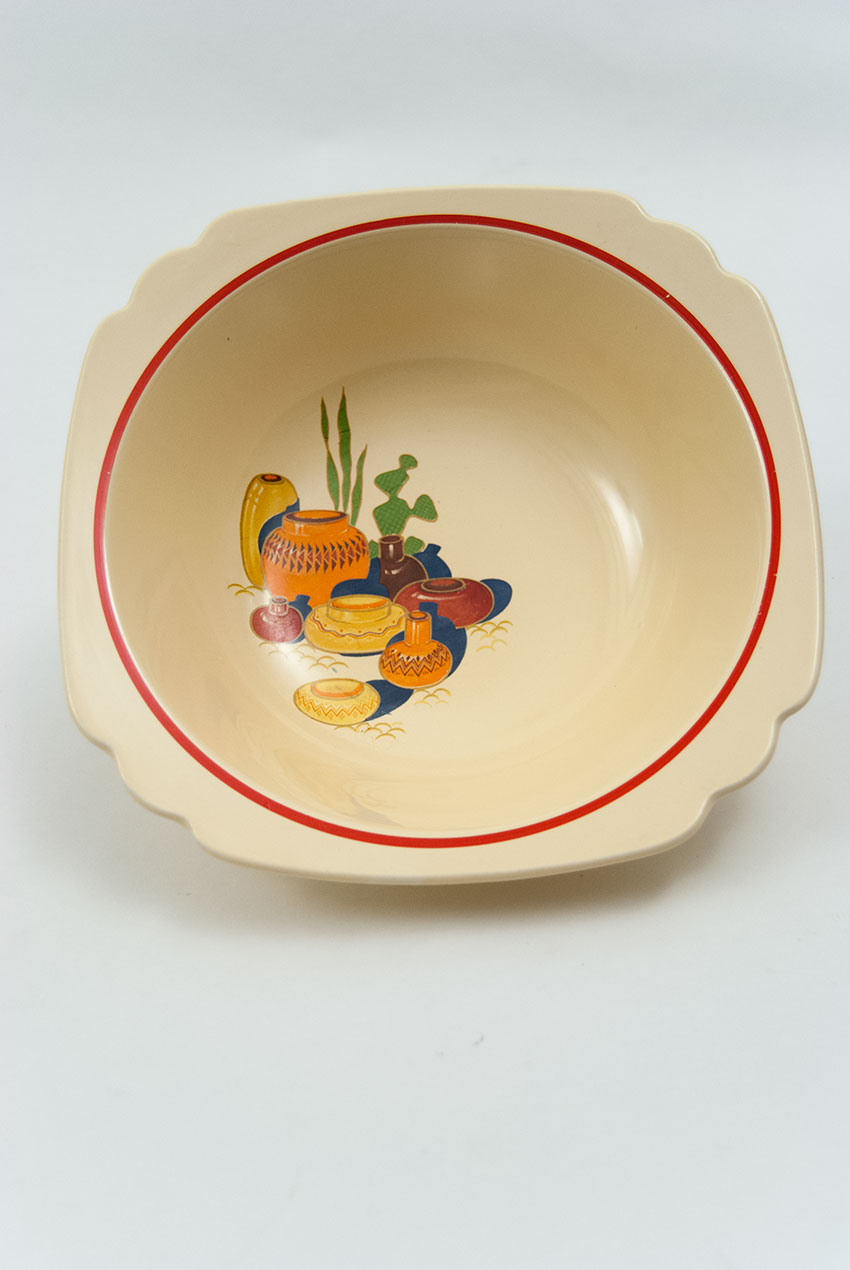 Riviera Pottery Berry Bowl With Mexicana Decals And Red Stripes For & Appealing Homer Laughlin Marigold Photos - Best Image Engine ...