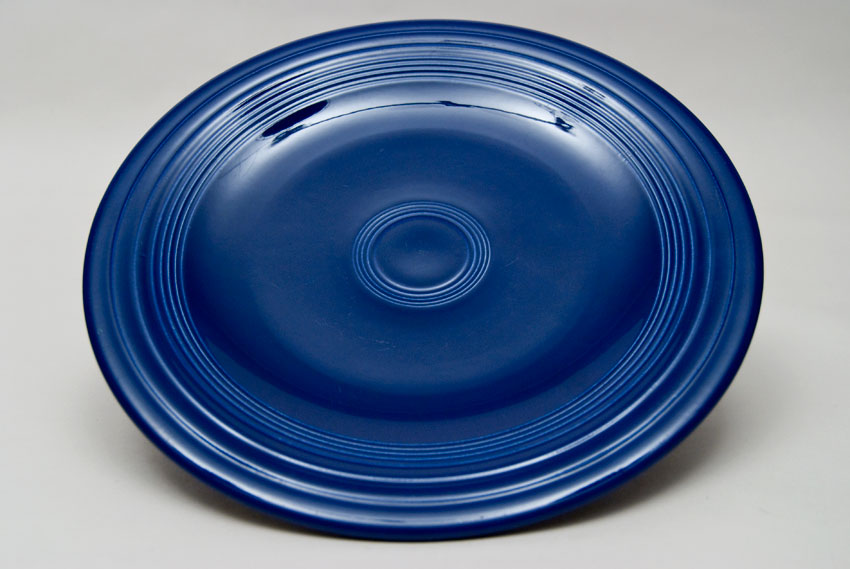 ... Original Cobalt Blue Fiesta 10 inch Dinner Plate Fiestaware Pottery For Sale & Fiesta Original Cobalt Blue 10 inch Plate Vintage Fiestaware For Sale