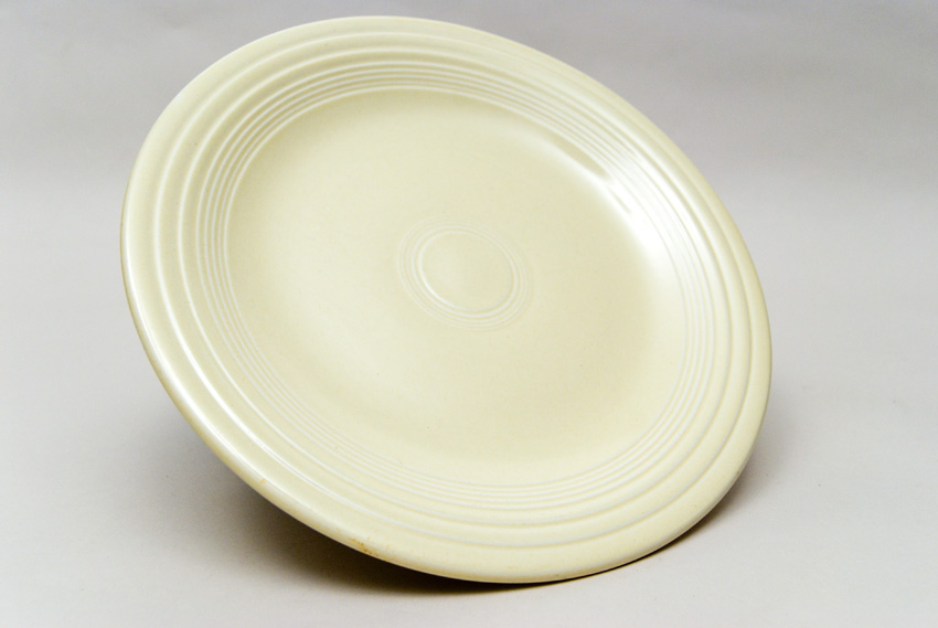 Original Ivory Fiesta 10 inch Dinner Plate Fiestaware Pottery For Sale ... : square fiesta plates - pezcame.com