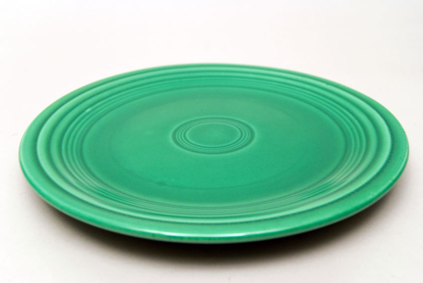Vintage Fiesta Pottery 10  Dinner Plate in Original Light Green Glaze For Sale & Vintage Fiesta Pottery 10