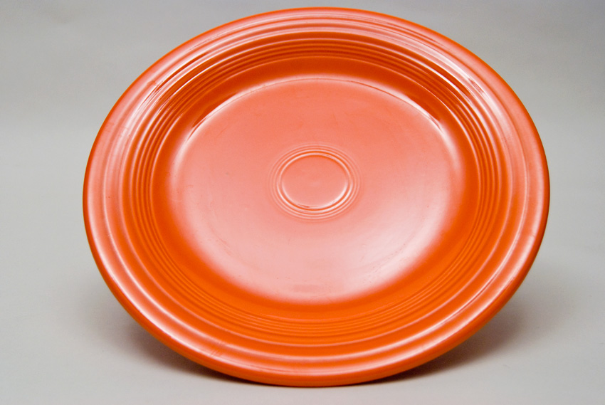 ... Radioactive Red Fiesta 10 inch Dinner Plate Fiestaware Pottery For Sale & Fiesta Radioactive Red 10 inch Plate Vintage Fiestaware For Sale