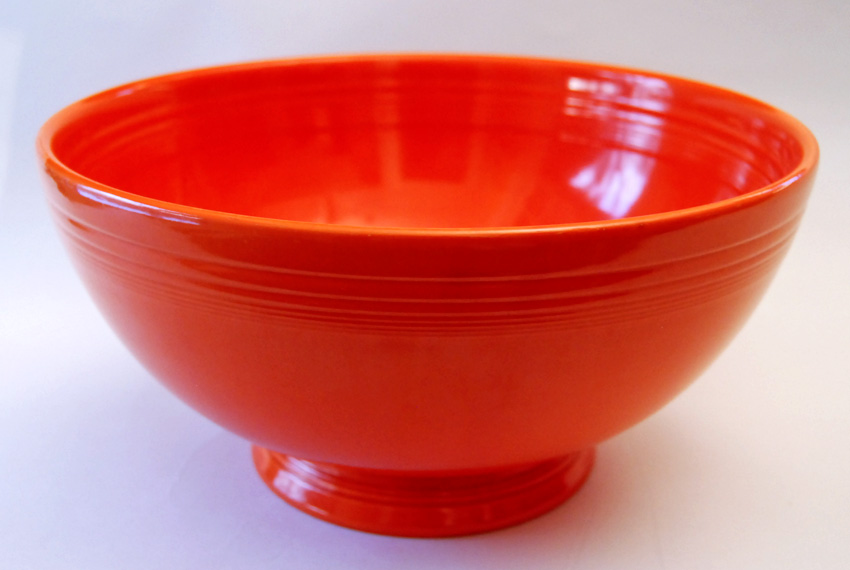Rare Radioactive Red Vintage Fiestaware Footed Salad Bowl Early Version For  Sale ...