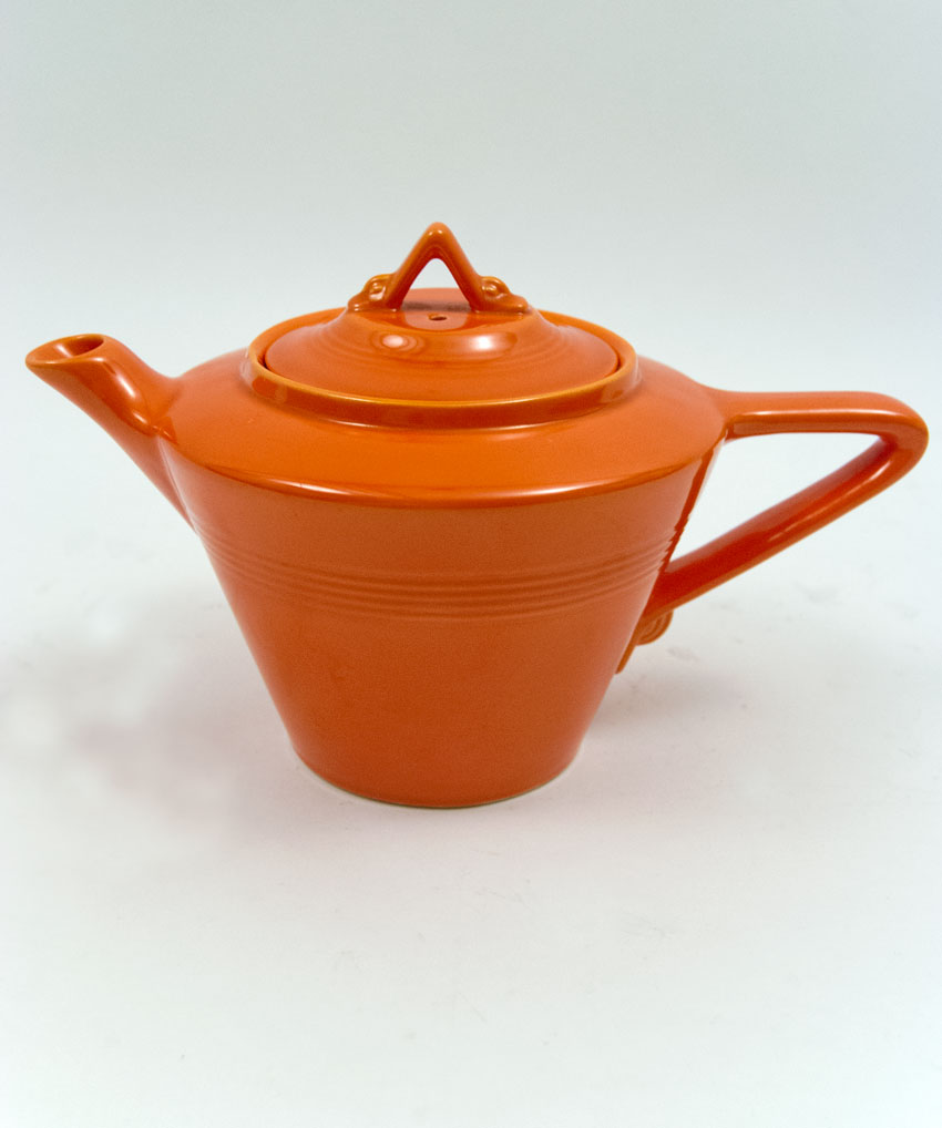 Vintage Harlequin Pottery Original Radioactive Red Teapot