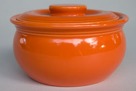 Red Radioactive Kitchen Kraft Individual Casserole: GoAlong Fiestaware Pottery For Sale