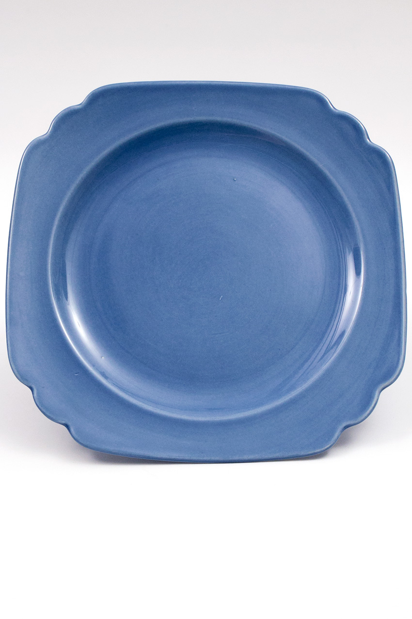 Vintage Riviera Pottery Mauve Blue 10inch Large Dinner Plate ...  sc 1 st  Vintage Fiesta Pottery & Vintage Riviera Pottery Large 10 Inch Dinner Plate in Original Mauve ...