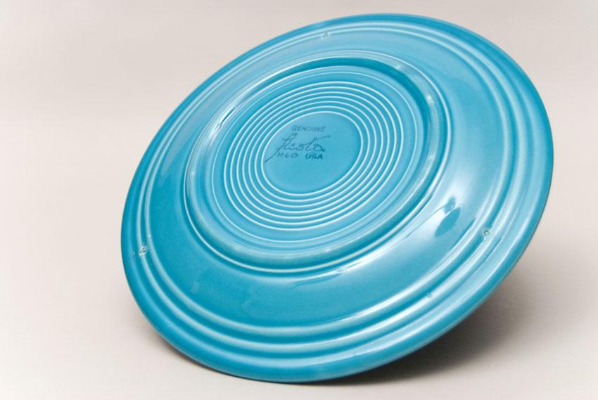 Vintage Fiesta Turquoise 10 Inch Dinner Plate Fiestaware Pottery Vase Gift Rare Hard ... & Vintage Fiesta Pottery 10