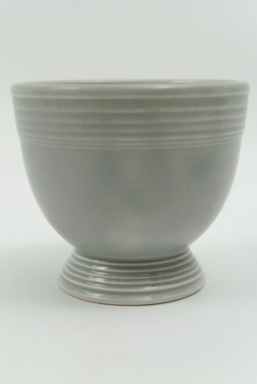 Vintage Fiesta Gray 50s Colors Egg Cup Fiestaware Pottery