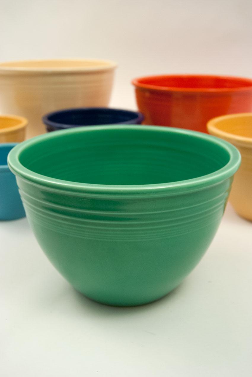 Vintage Fiesta Nesting Bowl Number Five in Original Green Glaze ...