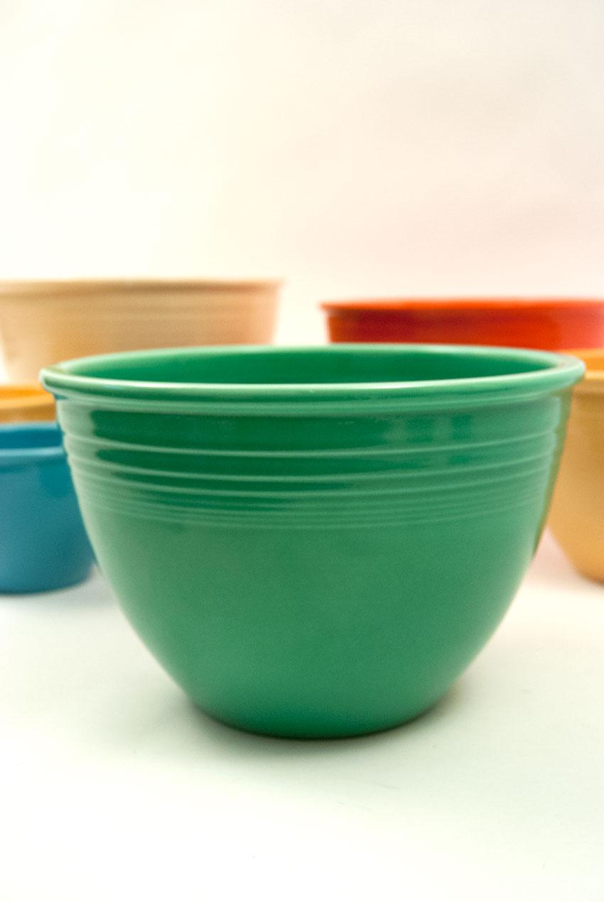 Vintage Fiesta Nesting Bowl Number Five In Original Green