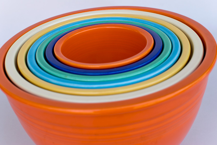 Vintage Fiesta Nesting Bowl in Original Radioactive Red: Number One ...