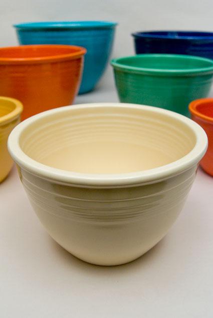 Vintage Fiestaware: Nesting Bowl in Original Ivory with Inside ...