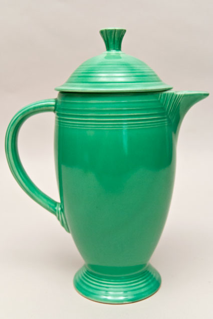 Vintage Fiesta Coffeepot In Orignal Green Glaze