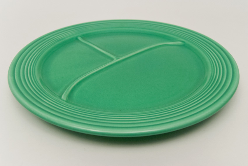 Vintage Fiesta 12 Quot Original Green Divided Plate Rare Hard