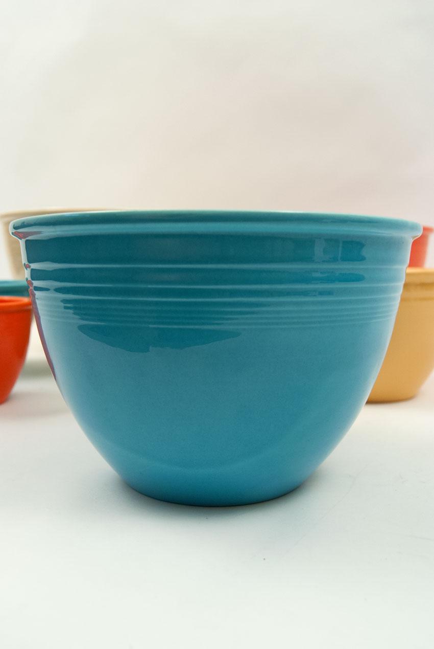 Vintage Fiesta Nesting Bowl Number Six in Original Turquoise Glaze ...