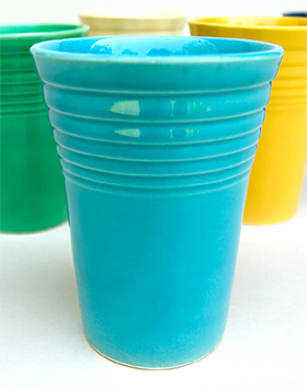 Fiesta Pottery For Sale Vintage Fiestaware Turquoise Water Tumbler