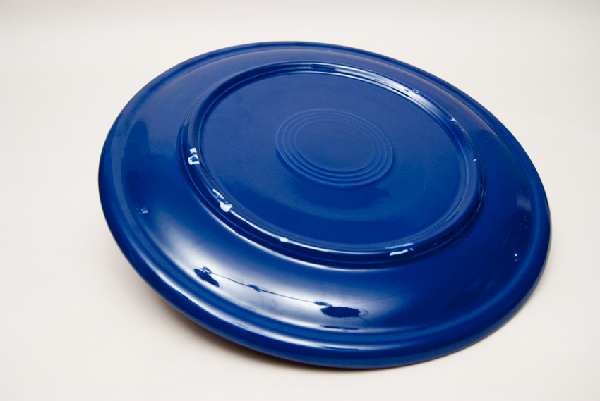 ... Kitchen Kraft Cake Plate in Original Cobalt Hard to Find Go-Along Fiestaware Pottery : fiesta cake plate - pezcame.com