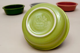 Vintage Fiestaware 50s Chartreuse Fruit Bowl For Sale