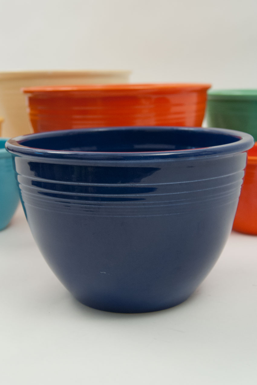 Vintage Fiesta Nesting Bowl Number Four In Cobalt In