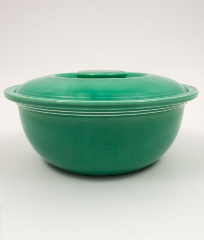Vintage Fiesta Kitchen Kraft Covered Casserole In Original Green Large  Version