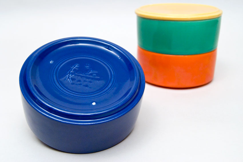 ... Kitchen Kraft Stacking Refrigerator Set With Lid In All Original  Vintage Fiesta Kitchen Kraft Colors:
