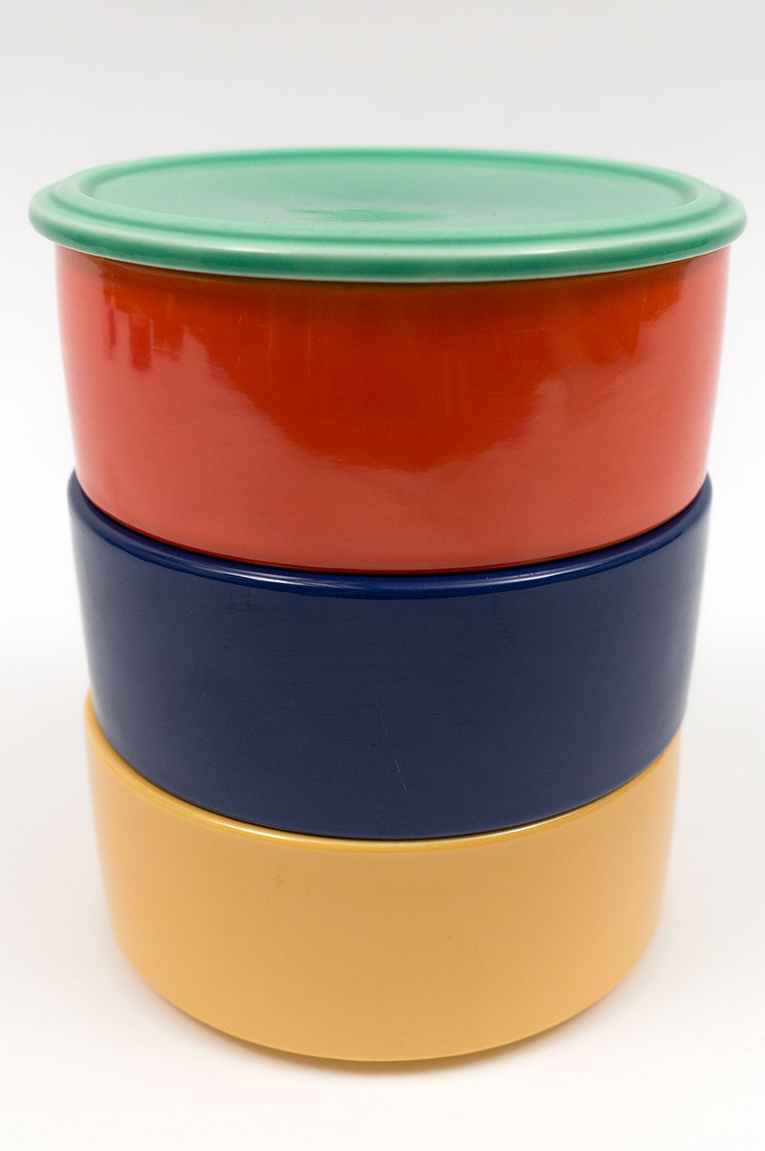 Kitchen Kraft Stacking Refrigerator Set With Lid In All Original Vintage Fiesta  Kitchen Kraft Colors: ...