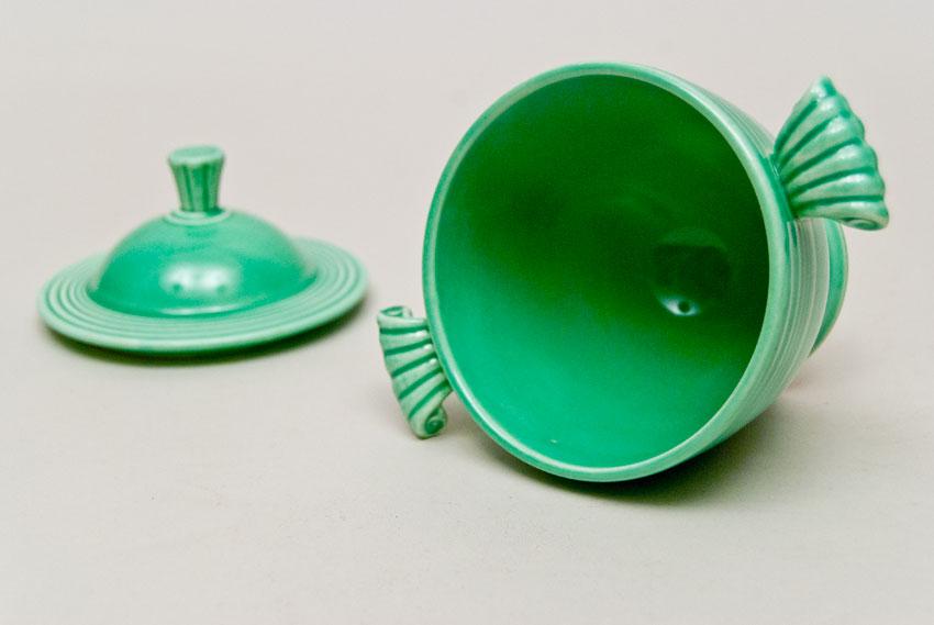 Vintage Fiestaware Lidded Sugar Bowl In Original Light