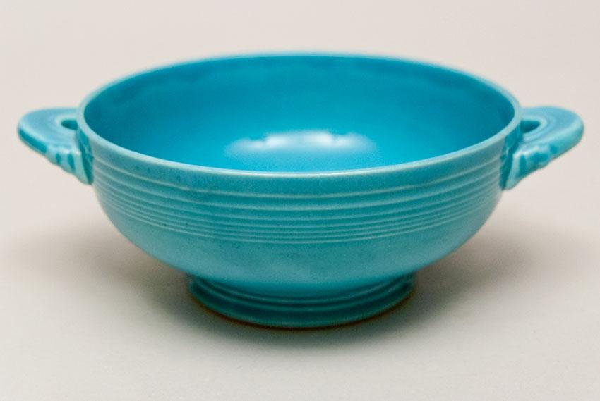 Vintage Fiesta Pottery Cream Soup Bowl In Original
