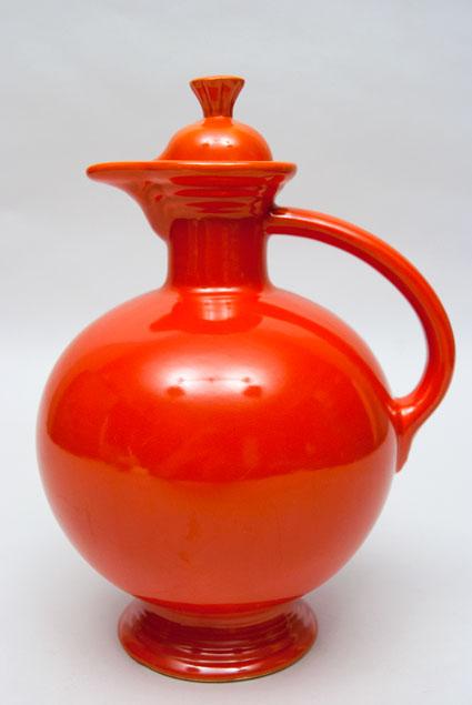 Vintage Fiesta Carafe: Fiestaware Radioactive Red Original ...
