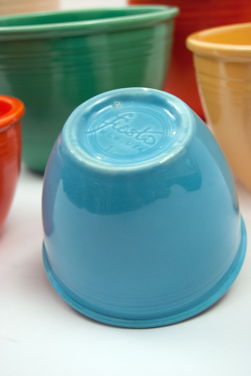 Vintage Fiesta Pottery Turquoise Number One Nesting Bowl with Inside ...