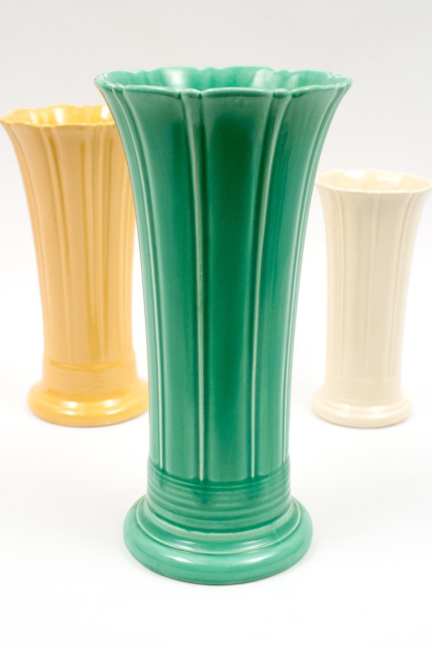 Vintage fiesta 12 inch original ivory fiestaware pottery vase vintage fiesta 12 inch original light green fiestaware pottery vase reviewsmspy