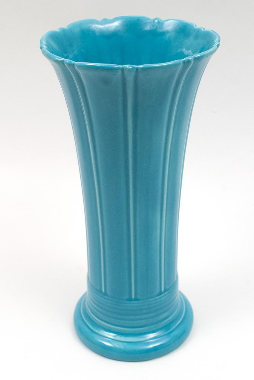 Vintage fiesta turquoise 12 inch flower vase for sale circa 1937 1942 vintage fiesta 12 inch original turquoise fiestaware pottery vase reviewsmspy