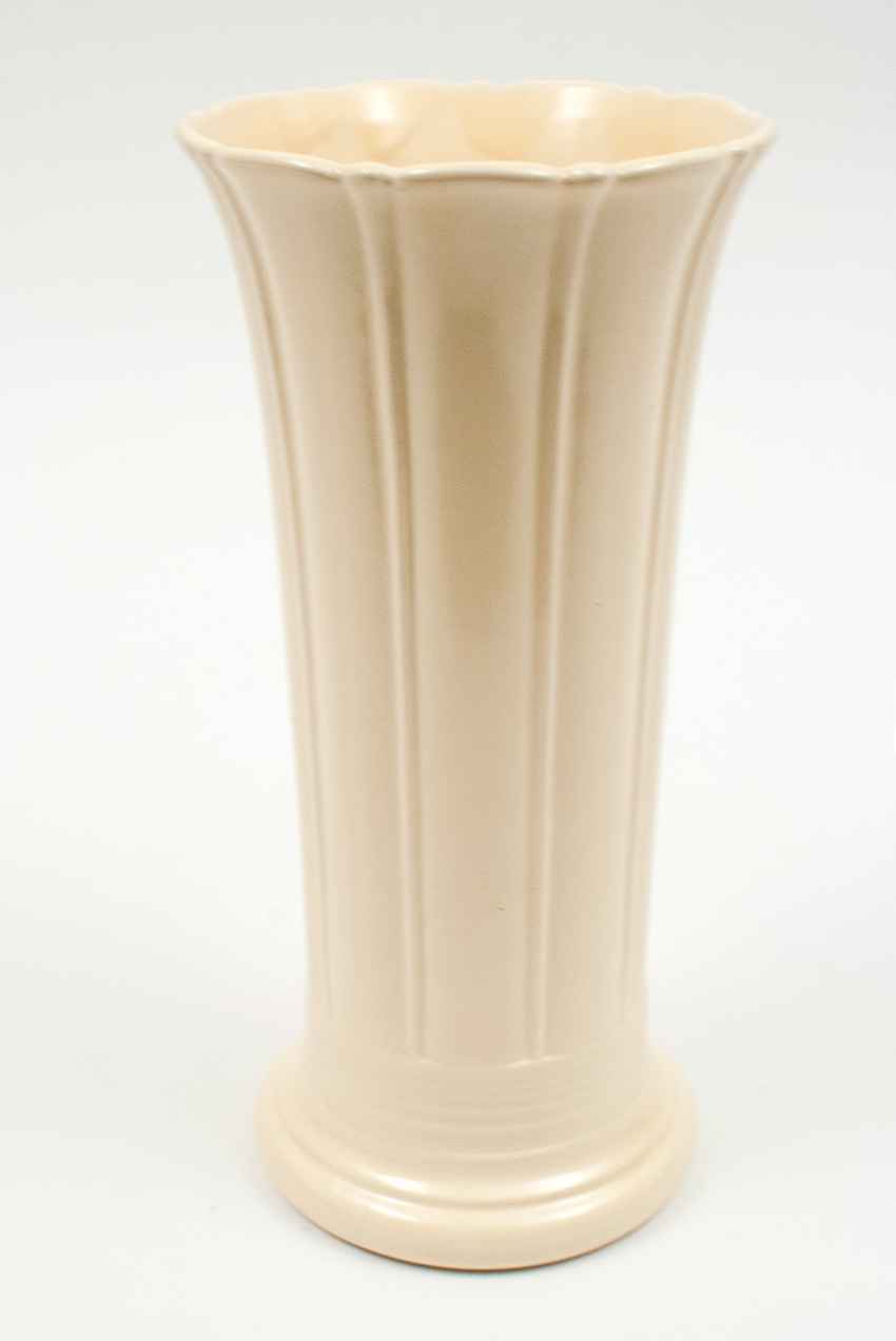 Vintage Fiesta 8 inch Vase in Original Ivory Glaze 1930s 1940s