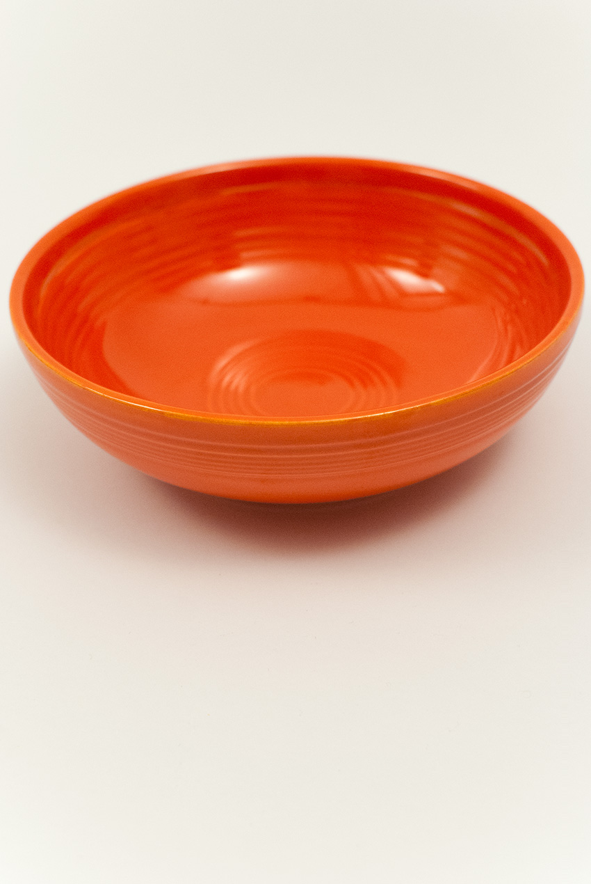 Vintage Fiesta Individual Salad Bowl In Red For Sale
