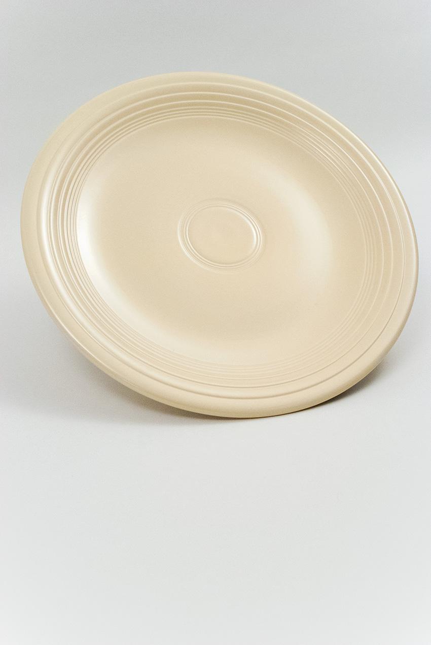 Original Ivory Vintage Fiestaware 15 Inch Chop Plate