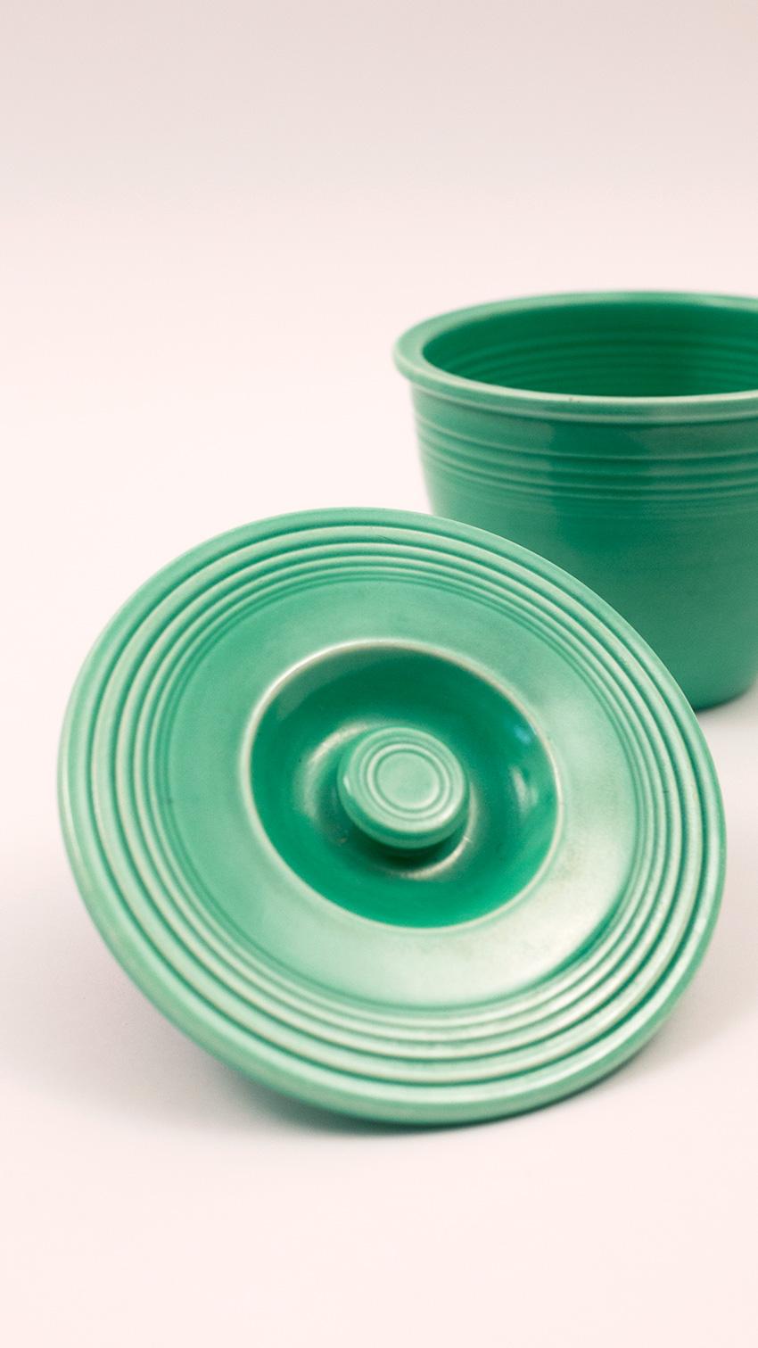 Vintage Fiesta Nesting Bowl Lid Number One Green Fiestaware Mixing ...