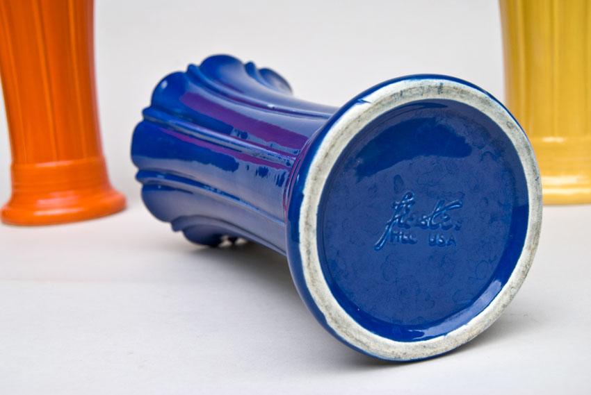 Vintage Fiesta 10 Inch Original Cobalt Fiestaware Pottery Vase Gift