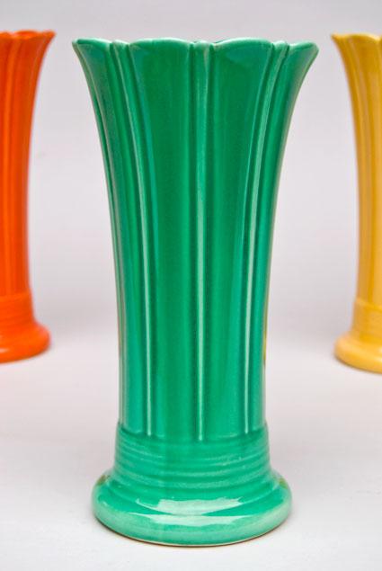 Vintage Fiesta 10 Inch Original Green Fiestaware Pottery Vase Gift