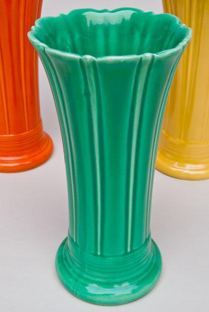 Vintage Fiesta 10 inch Original Green Fiestaware Pottery