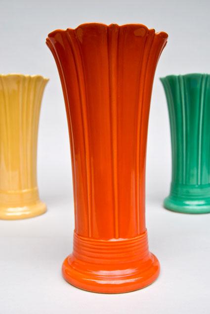 Vintage Fiesta 1o Inch Original Red Fiestaware Pottery Vase Gift