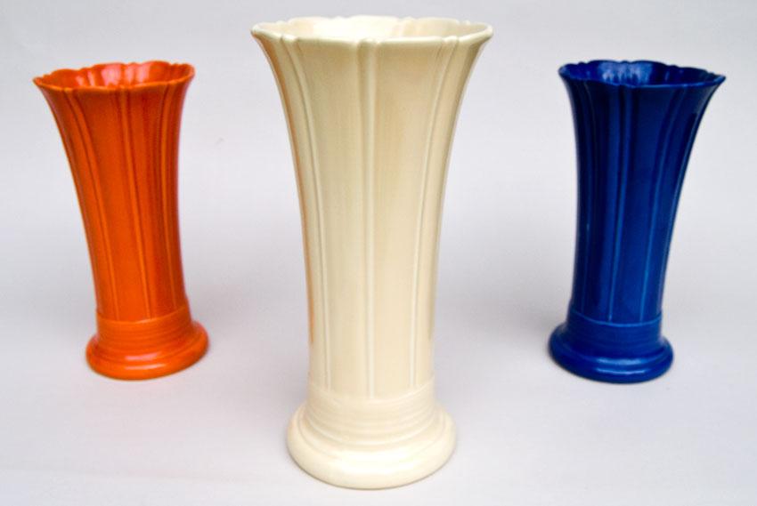 Vintage Fiesta 12 Inch Original Ivory Fiestaware Pottery Vase Gift