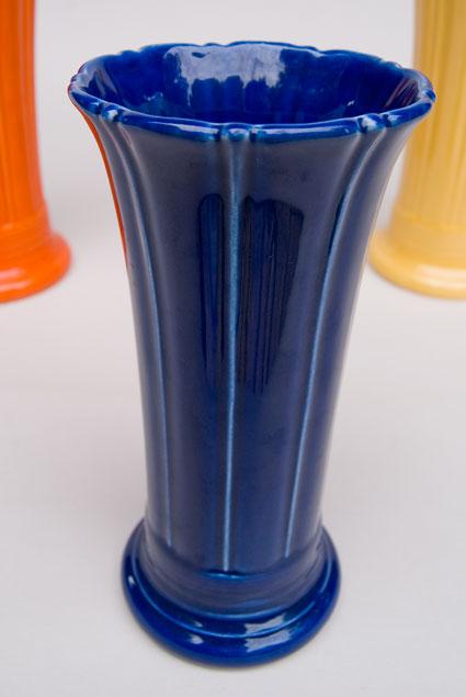 Vintage Fiesta 8 Inch Original Cobalt Blue Fiestaware Pottery Vase