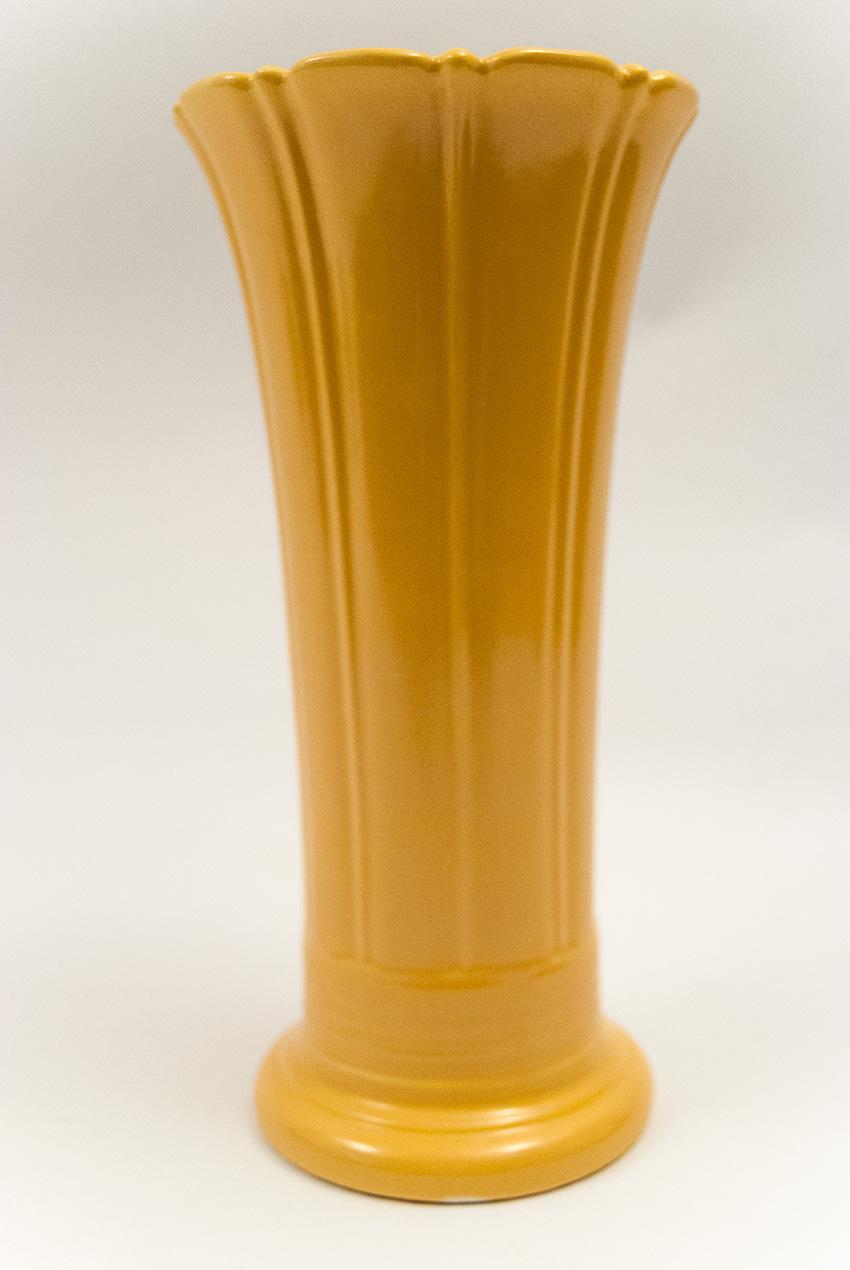 Vintage Fiesta 12 Inch Vase in Original Yellow Glaze