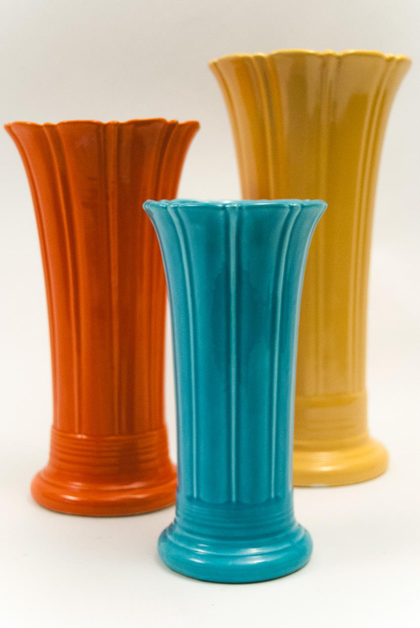 Vintage Fiesta 10 Inch Original Turquoise Fiestaware Pottery Vase Gift Rare Hard To Find Buy