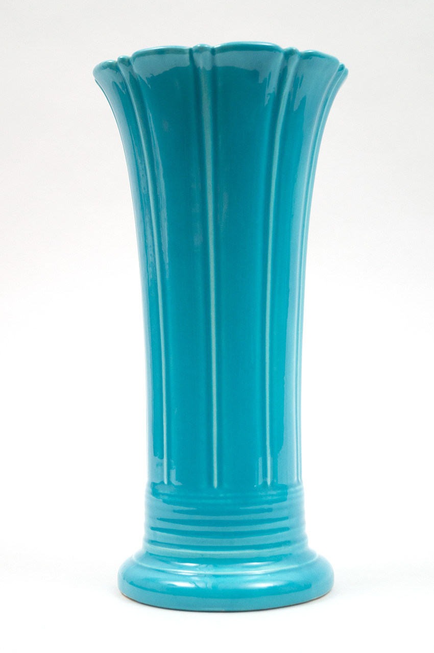 Vintage Fiesta Turquoise 12 inch Flower Vase for Sale