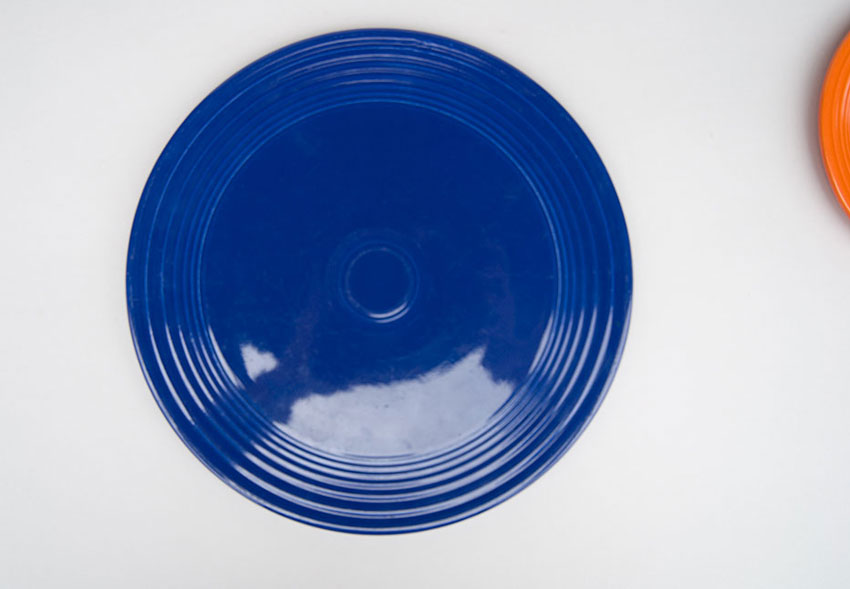 ... Original Cobalt Blue Vintage Fiesta Cake Plate Fiestaware For Sale Old Authentic : fiesta cake plate - pezcame.com