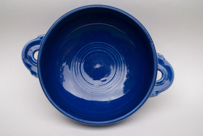 Vintage Fiestaware Cobalt Blue Cream Soup Bowl Fiesta Dinnerware 30s 40s 50s 60s For Sale ... & Vintage Fiesta Cream Soup Bowl: Original Cobalt Fiestware American ...