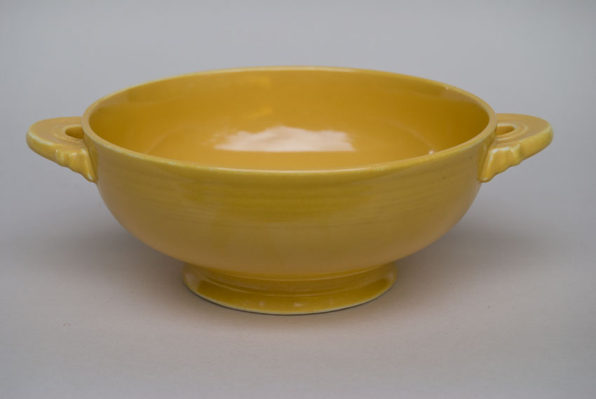 ... Vintage Fiestaware Yellow Cream Soup Bowl Fiesta Dinnerware 30s 40s 50s 60s For Sale & Vintage Fiesta Cream Soup Bowl: Original Yellow Fiestware American ...