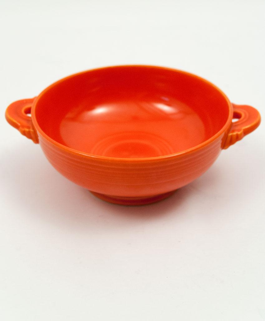 ... Vintage Fiestaware Red Cream Soup Bowl Fiesta Dinnerware 30s 40s 50s 60s For Sale & Vintage Fiesta Cream Soup Bowl: Original Red Fiestware American ...