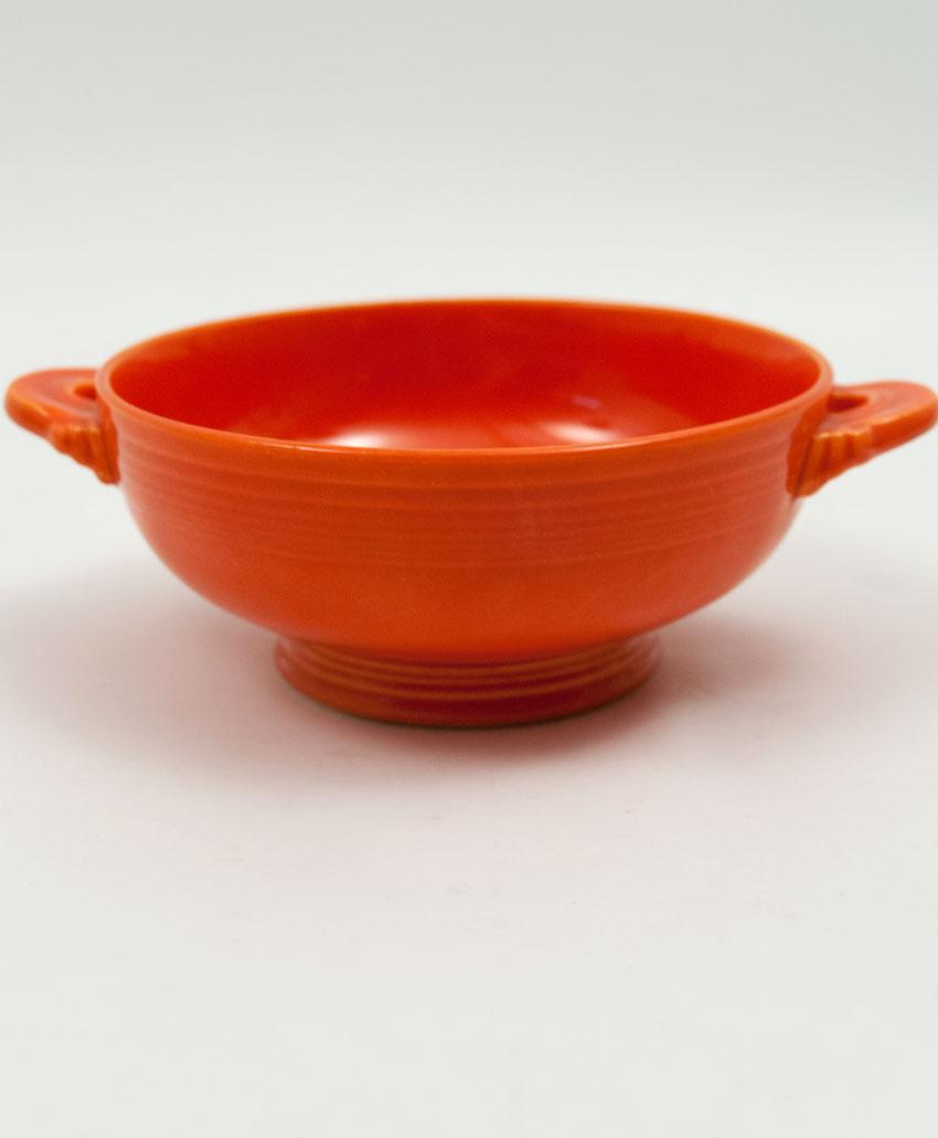 Vintage Fiesta Cream Soup Bowl: Original Red Fiestware American ...