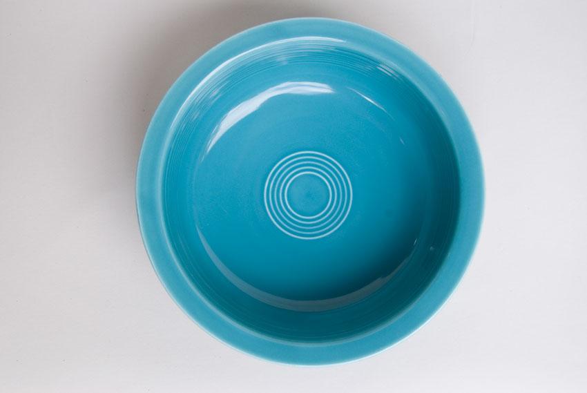 Best Vintage Fiesta Original Turquoise Nappy Vegetable Serving Bowl  KU27